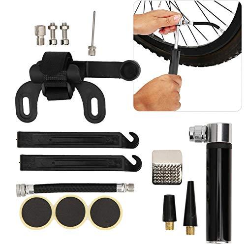 desgaste- Kit de reparación de neumáticos de bicicleta Accesorio de bicicletas de montaña de carretera para entretenimiento doméstico para deportes escolares(black)
