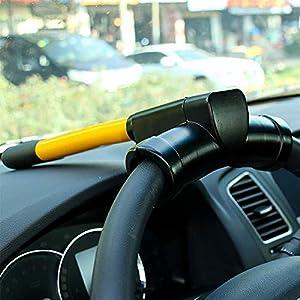 Acobonline Barra antirrobo Reforzada para Volante, para vehículos y Furgonetas,Antirobo Universal Universal para vehículos