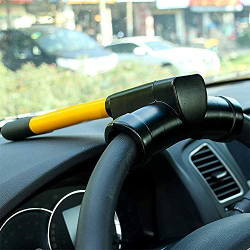 Acobonline Serratura a Volante per Auto,Bloccasterzo antifurto, bloccasterzo Universale antifurto Tipo T con 2 Tasti per Auto