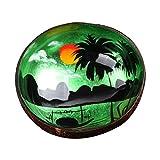 Yanhonin - Cuencos de Coco Natural, Cuenco de Ensalada y Vegano, Caja de Caramelos de AVCE Pintados