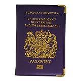 Ogquaton Couverture en cuir PU de qualit/é sup/érieure pour le d/étenteur du passeport europ/éen UK