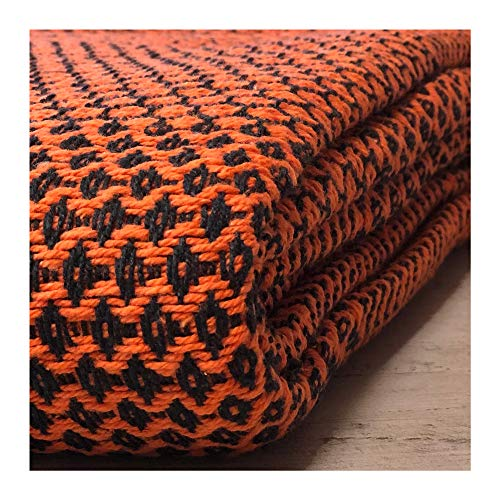 Craft Story Decke Joana I Schwarz — Orange d...