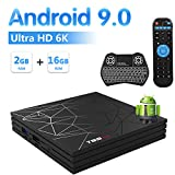 Foto Sidiwen Android 9.0 TV Box T95 MAX Set Top Box 2 GB RAM 16 GB ROM Allwinner H6 Quad Core WIFI 2,4 G Ethernet USB 3.0 Supporto 6K 4K Ultra HD H.265 con Retroilluminazione Mini Tastiera Wireless