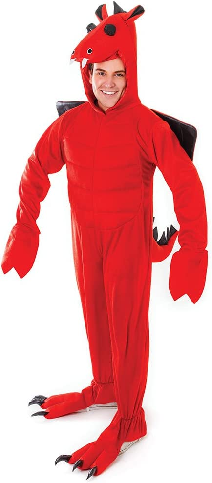 security Bristol Novelty AC363 Red Costume Unisex-Adult Dragon Easy-to-use Medium