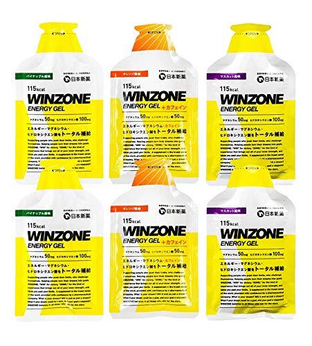 WINZONE エナジージェル おためし3味 6個セット(各2個)/マラソン 足つり対策 補給食サプリ