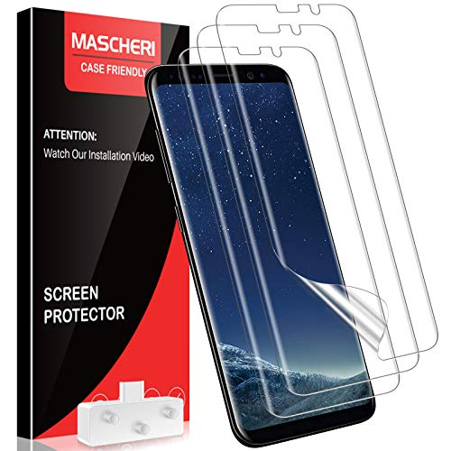MASCHERI 3 Unidades Protector de Pantalla Compatible para Samsung Galaxy S8 Plus HD película Blanda Clara TPU Clear Soft Protector Pantalla Compatible para Samsung Galaxy S8 Plus Transparente