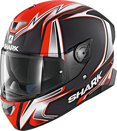 Shark SKWAL 2 SYKES MAT KWO, casco da moto, nero/arancione, M