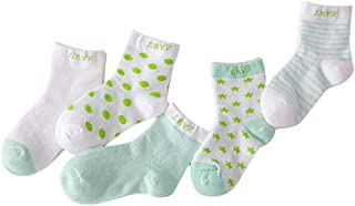 Bodhi2000, 5 paia di calzini traspiranti estivi per neonati, in cotone sottile