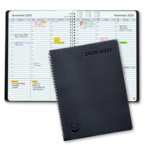 Terminplaner 2020 2021 von SmartPanda - Wochenplaner A4 – Softcover Tagebuch, 30 Minuten-Intervalle – Juli 2020 - August 2021 - auf Deutsch