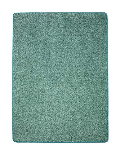 misento Shaggy Hochflor Teppich für Wohnzimmer Langflor, schadstoff geprüft 100 {0f53f1fbc3457f88ad70fa35ca3bb8dbe4203d1a641fe8fed9bebe1bff247c25} Polypropylen, aqua 100 x 150 cm