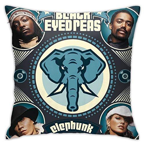DavidCrockett The Black Eyed Peas Pillowcase Sofa Home Furnishing Pillowcase Square Pillowcase Cushion Cover Size 18