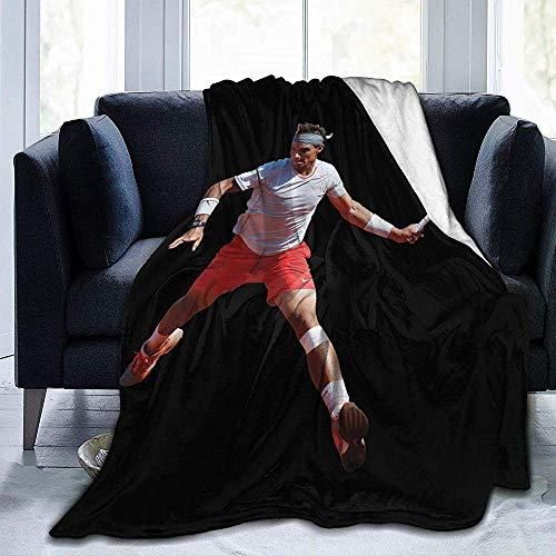 July Novak Djokovic Ultraweiche Mikrofleece-Decke Superweiche hypoallergene Plüschbettcouch Living Room-3