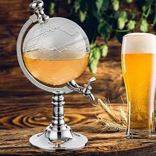 Dispensador de bebidas World Globe, 1,5 l, para whisky, botella de bebidas con forma de globo terráqueo, regalo para bodas, regalo para el hogar