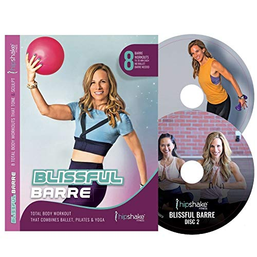 HIPSHAKE Blissful Barre Workout DVD. 8 Barre Workouts for Women. Low Impact Strength Training Workout Program (Beginners & Advanced).