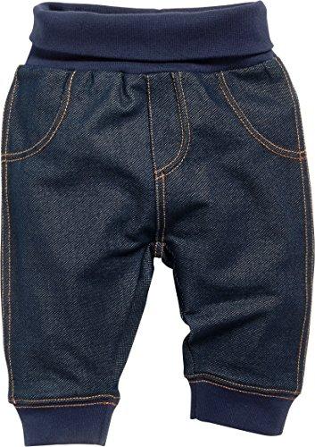 Schnizler Baby-Unisex Sweat-Hose Jeans-Optik Jogginghose, Blau (Blau 7), 6-9 monate (Herstellergröße:74)