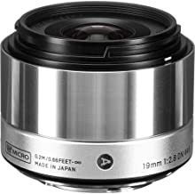 Sigma 19mm f/2.8 DN Lens for Micro Four Thirds Cameras (Silver) (International Model) (No Warranty)
