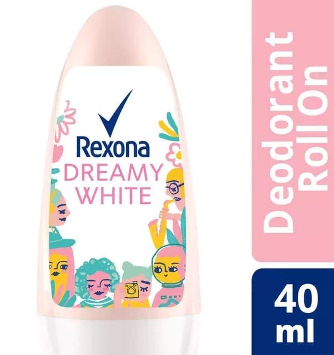 協同以前はインセンティブRexona レクソナ woman 制汗 デオドラント ロールオン DREAMY WHITE【アルコール 0%】ソフトなユリの香り 40ml [並行輸入品]
