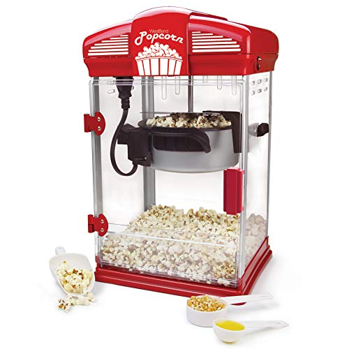 Buy Cheap West Bend 82515 Hot Theater Style Popper Machine with Nonstick Kettle Includes Measuring C...