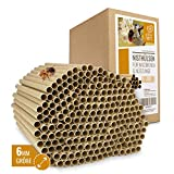 cuore di animali selvatici | 200 Tubi di Nidificazione con Ø 6 mm per api selvatiche - Tubi di cartone ecologici al 100% per Hotel Insetto, Casetta per Insetti