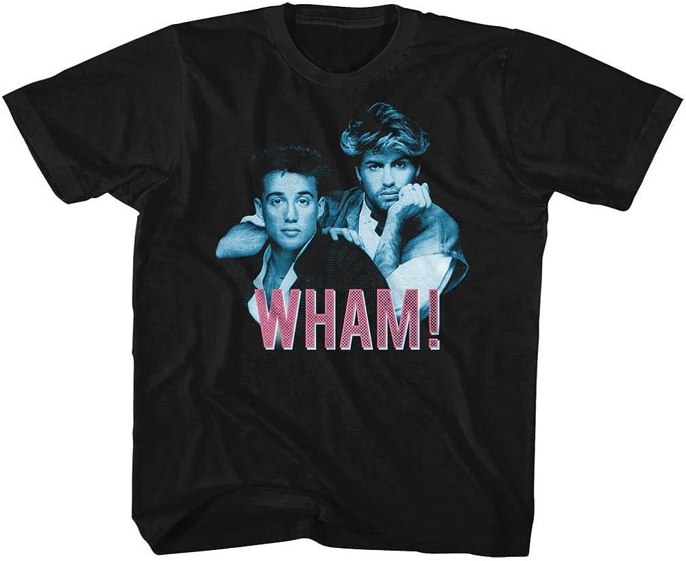 Wham English Music Duo Blue Pink Black Youth Big Boys T-Shirt Tee
