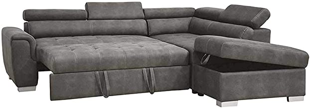 Sleeper Sofa Bed Futon Sofa Bed - Modern Linen Fabric L-Shaped Couch 3-Seat Sofa Sectional Furniture Set - Modern Sofa Set...