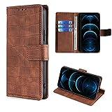 HUAYIJIE GKFGEY Flip Hülle für Elephone S3 Lite Hülle Handy Ständer Cover [Braun]