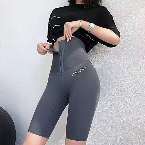 Bossoshe Leggings Deportivos de Gimnasio-Collant addominali, Pantaloni da Yoga a Vita Alta-Grigio B_XXXL.-Mujer Pantalones de Yoga