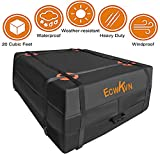 ECWKVN Car Roof Bag Cargo Carrier, 20 Cubic Ft Waterproof Rooftop Cargo Bag with 6 Reinforced Straps + Storage Bag, Heavy Duty Roof Cargo Carrier Bag for All Vehicle with/Without Rack