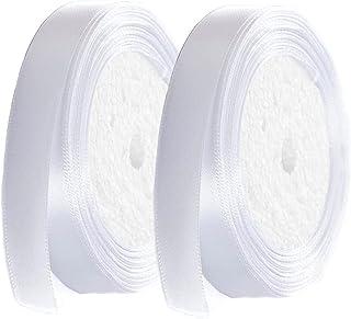 3//10//25m Ruban satin blanc 20mm 2cm double face couture mercerie mariage