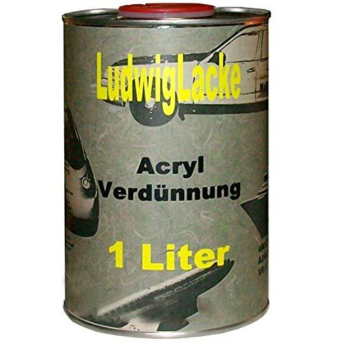Acrylverdünnung 1Liter Verdünner kurz für Autolack Rallack Klarlack Grundierung Säubern