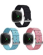 Gransho Compatible con Fitbit Versa 3 / Fitbit Sense Correa de Reloj, Pulsera Deportivo de Reloj de Nylon, con Cierre de Clip, Respirable y Reemplazable