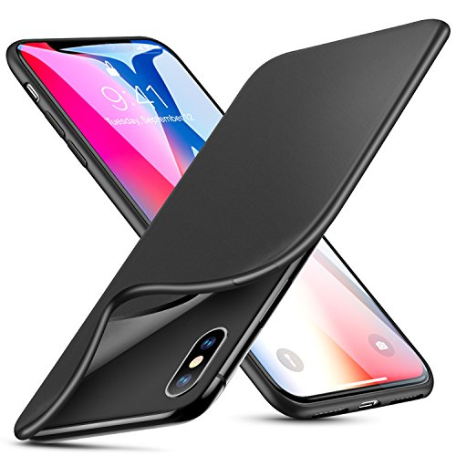 ESR Case Compatible for iPhone X/XS, Slim Solid Soft TPU Cover [Support Wireless Charging] for...