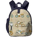 Sac à Dos Enfant Garderie Maternelle Sac Creche Sac Animaux École Mignon pour Bébé Fille Garçon Motos Transport de la Circulation Urbaine