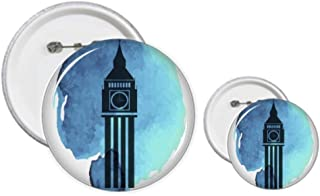 Big Ben London England UK Kit de création de boutons et de badges