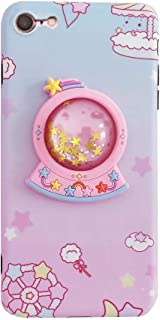 """Bling Unicorn Case for iPhone 7/8 4.7"""",3D Cartoon Design Cute Crystal Ball Quicksand Glitter Stars Bling Cover, iPhone 7 Case iPhone 8 Case Kawaii Fashion for Kids Child Teens Girls Women Boys (Pink)"""