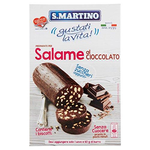 S.Martino - Salame al Cioccolato Senza Zucchero - Astuccio 300G - [confezione da 5]