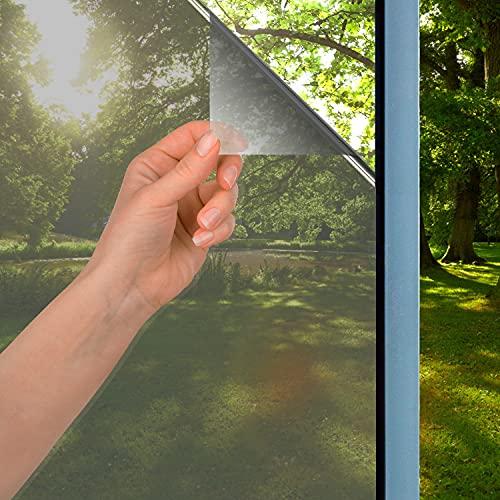 Xnuoyo Vinilo para Ventanas, Lamina Espejo para Ventana, Película de Ventana, Cristal Ventana Película de Espejo Unidireccional Protege contra los Rayos UV, la Luz Solar y el Calor (40x200cm)