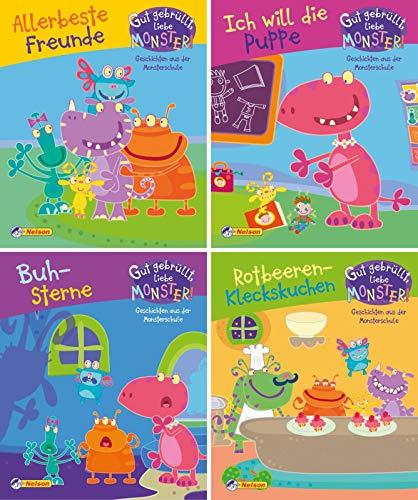Nelson Mini-Bücher: 4er Gut gebrüllt, liebe Monster! 1-4: Geschichten aus der Monsterschule