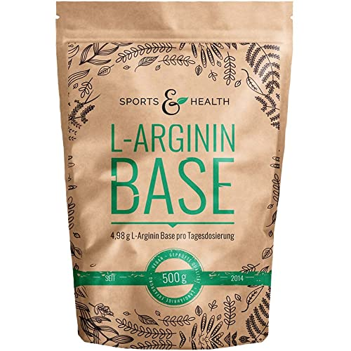 L Arginin Base Pulver - 500g Veganes Arginin Pulver 5g pro Tagesdosis - L-Arginin Ist Die Reinste Quelle Mit Höchster Bioverfügbarkeit Und Optimalen PH Wert