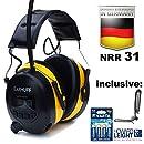 SKS 1180 Cápsulas de Protección Auditiva Negro Radio Digital Am Fm MP3 SNR 25