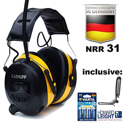 EARMUFF gehoorbescherming met FM-radio en AUX-ingang gehoorbescherming