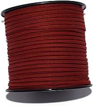 Daim artificiel et cuir 3 mm rouge x1m