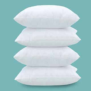 Lot de 2 Coussins 40 x 40 cm - Rembourrage pour Coussins carrés 40 x 40 cm (4 pcs Blanc)