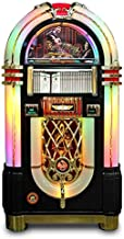 Rock-Ola Bubbler CD Elvis Jukebox in Black with Bluetooth Connectivity, Remote Control, Limited Edition- Holds 100 Cds