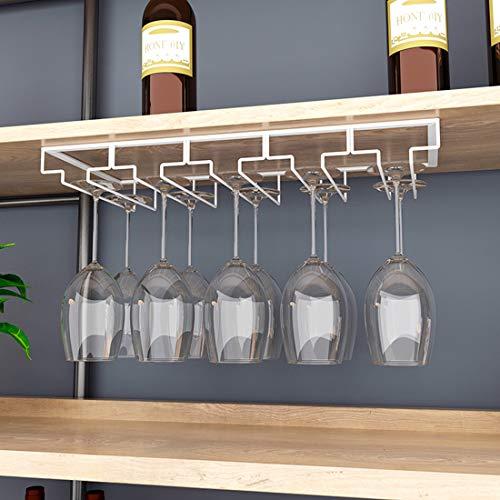 HENG 5 File Porta Bicchieri Sospeso Cremagliera del Bicchiere di Vino per Bar, Ristorante, Cucina