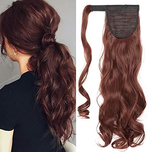 TESS Ponytail Extensions Pferdeschwanz Haarteil Clip in wie Echthaar Haarverlängerung günstig Zopf Extensions Haarteile Gewellt 17