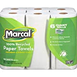 Marcal Paper Towels U-Size-It Sheets 2 Ply 140 Sheets Per Roll 100% Recycled - 24 Rolls Per Case Green Seal Certified Paper Towel Rolls 06181,White