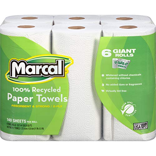 Marcal Paper Towels U-Size-It Sheets 2 Ply 140 Sheets Per Roll 100%...