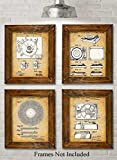 Original Record Players Patent Art Prints - Set of Four Photos (8x10) Unframed - Makes a Great Gift...