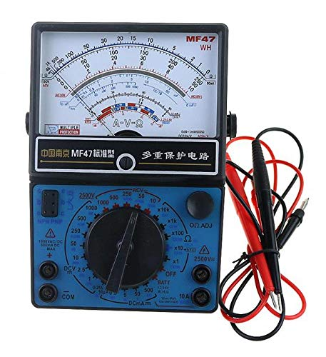 Learn More About MF47 Pointer Multimeter Measurement of DC Voltmeter Ammeter Ohmmeter Analog by Capa...